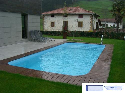 Piscinas de fibra ao melhor pre o e qualidade - Medidas de piscinas de casas ...